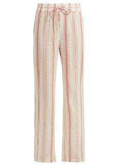 Melissa Odabash Krissy striped cotton trousers