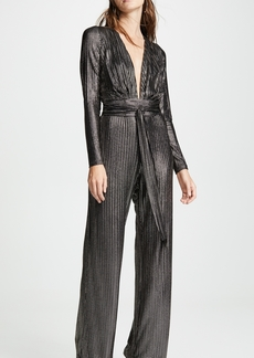 Melissa Odabash Metallic Striped Jumpsuit