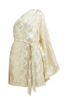 Melissa Odabash Look 13 metallic mini one shoulder dress