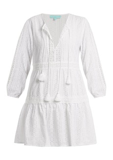 Melissa Odabash Reid V-neck embroidered cotton dress
