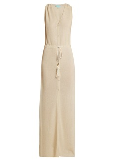 Melissa Odabash Siobhan V-neck ribbed-knit maxi dress