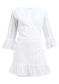 Melissa Odabash Vogue broderie-anglaise cotton wrap dress