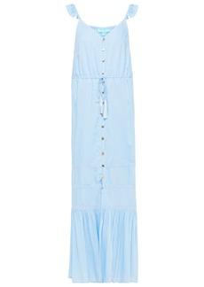 Melissa Odabash Woman Alanna Ruffled Lace-trimmed Voile Maxi Dress Light Blue