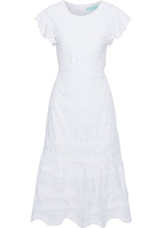 Melissa Odabash Woman Louisa Embroidered Cotton-voile Midi Dress White