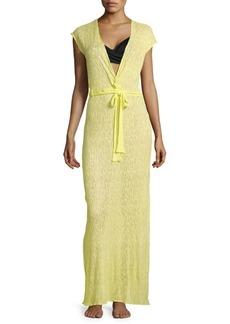 Melissa Odabash Plunging V-Neck Maxi Dress