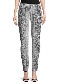 Melissa Odabash Python-Print Silk Pants