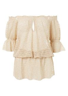 Melissa Odabash Textured Off-The-Shoulder Mini Dress