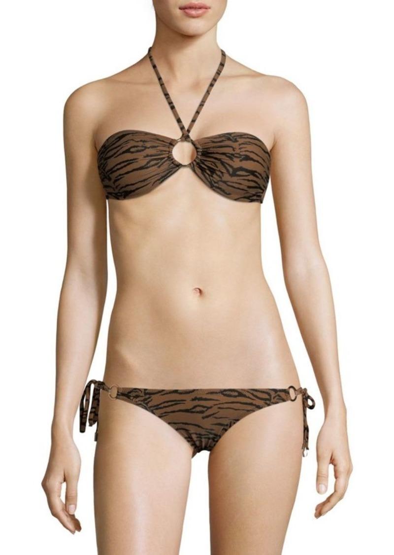 Melissa Odabash Two-Piece Animal-Print Halter Bikini