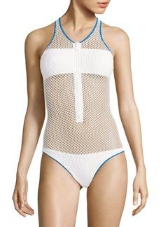 Melissa Odabash Zuma Mesh One-Piece Swimsuit