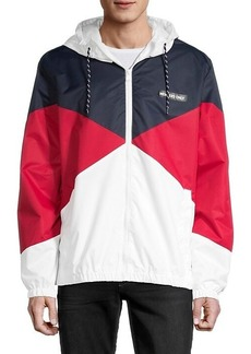 Members Only Colorblock Hooded Jacket