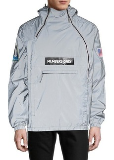 Members Only Logo Hooded Jacket