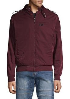 Members Only Logo Raglan-Sleeve Jacket