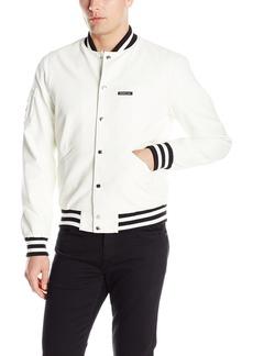 Members Only Men's Bleeker Faux Leather Vintage Varsity Jacket
