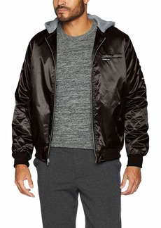 Members Only Men's Bomber Jacket with Detachable Hood  L