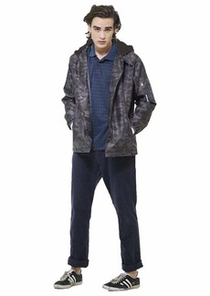 Members Only Men's Coach Jacket with Detachable Hood  XXL