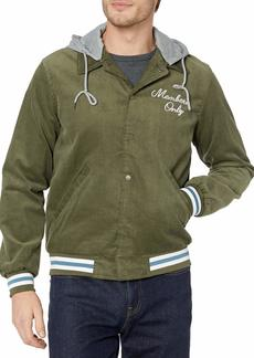 Members Only Men's Corduroy Varsity Jacket with Removable Hood  M
