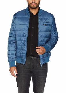 Members Only Men's Down Blend Varsity Puffer Jacket  L