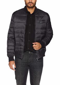 Members Only Men's Down Blend Varsity Puffer Jacket  M