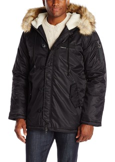 Members Only Men's Military Hooded Long Parka  L
