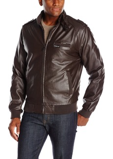 Members Only Men's Vegan Leather Iconic Racer Jacket  S