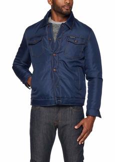 Members Only Men's Oxford Trucker Jacket  L