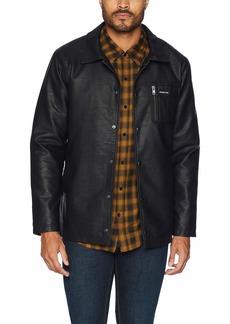 Members Only Men's Vegan Leather Coach Jacket  XL
