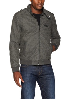 Members Only Men's Vegan Leather Iconic Racer Jacket  M