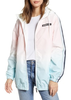 Members Only Ombré Long Bomber Jacket