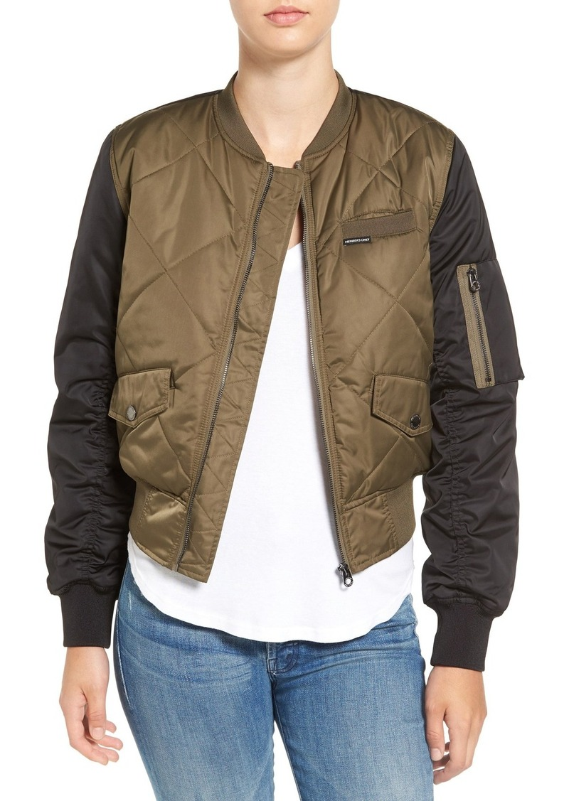 Members Only Quilted Two-Tone Bomber Jacket