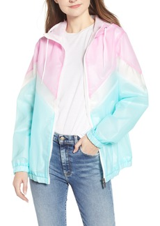 Members Only Translucent Chevron Front Zip Jacket