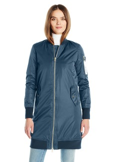 Members Only Women's Chrissy Lightweight Coat with Drawstring Hood  Large