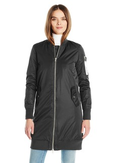 Members Only Women's Chrissy Lightweight Coat with Drawstring Hood  Small