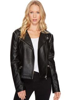 Members Only Women's Cropped Biker Jacket  XL