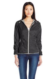 Members Only Women's Fleece Lined Packable Windbreaker Coat with Adjustable Hood  XL