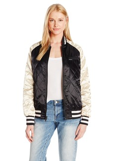 Members Only Women's Floral Blossom Souvineer Varsity Jacket  M