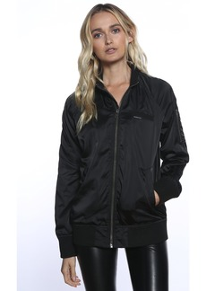 Members Only Women's Iconic Boyfriend Jacket with Satin Finish  Extra Small
