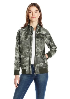 Members Only Women's Iconic Boyfriend Jacket with Satin Finish  S