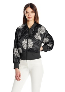 Members Only Women's Momo Quilted Bomber Jacket  M