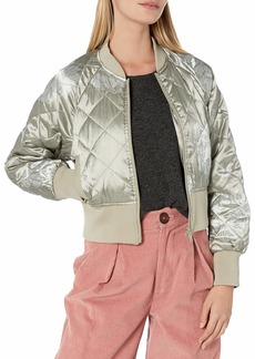 Members Only Women's Momo Quilted Bomber Jacket  S