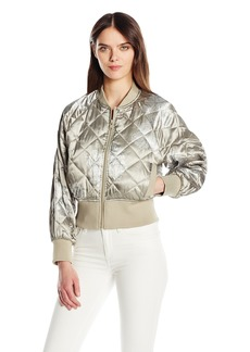 Members Only Women's Momo Quilted Bomber Jacket  XL