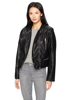Members Only Women's Moto Jacket  Extra Small