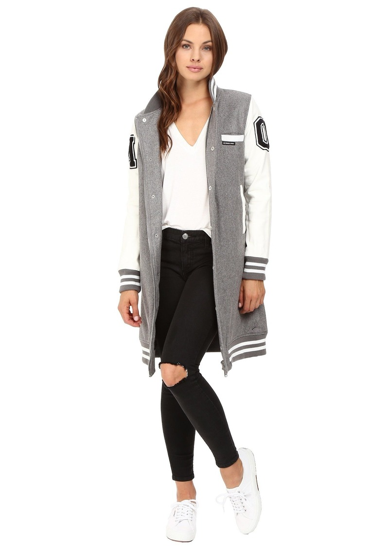 Members Only Women's Varsity Long Jacket  M