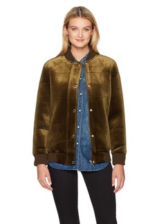 Members Only Women's Velvet Bomber Jacket  Extra Large