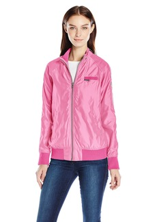 Members Only Women's Iconic Boyfriend Jacket with Satin Finish  M