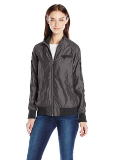 Members Only Women's Iconic Boyfriend Jacket with Satin Finish  Extra Large