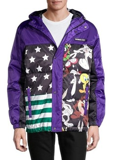 Members Only x Nickelodeon Flag Block Puffer