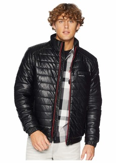 Members Only PU Moto Puffer Jacket