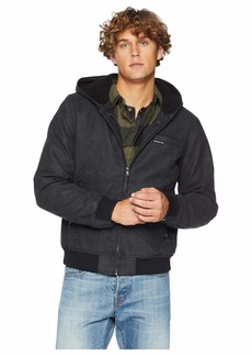 Members Only Sueded PU Sherpa Lined Hoodie