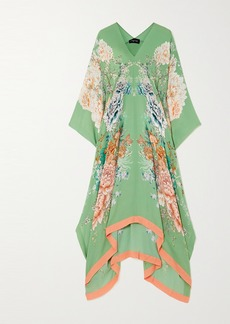 Meng Floral-print Silk-satin Kaftan