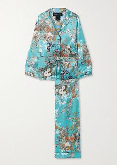 Meng Floral-print Silk-satin Pajama Set